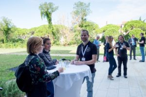 Participants networking at the InnoRenew CoE Living Lab Workshop in Izola, Slovenia on 13.09.2017.